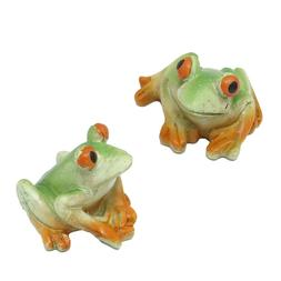 Mini Frog Resin Figurines, Assorted Sizes, 3-Piece