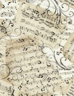 Music Fabric, Timeless Treasures Fabric, Music Sheets, By Th