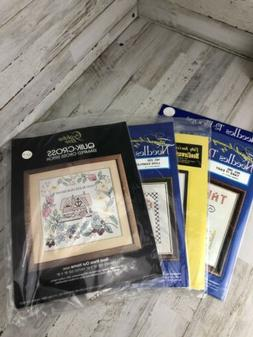 Needles 'n Hoops ~ Needlework/Cross Stitch Sampler Kit New/S