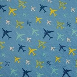 NEW Airplanes BTY Planes Flight Pattern 100% Cotton Fabric B