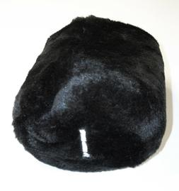 NEW Long Neck Generic Driver Headcover  Black Fur/Stretch Fa