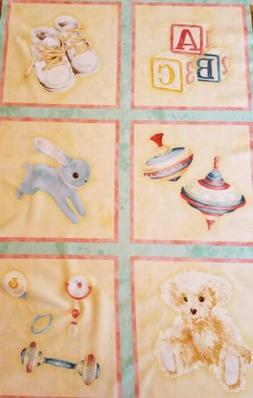 New Robert Kaufman Sweet Baby Fabric Panel Quilting Sewing C