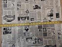 Newspaper sewing sew quilt quilting news C9699 durable cotto