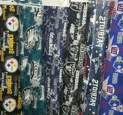 NFL Cotton Fabric BY THE 1/4 YARD Steelers Raiders Dallas Ea
