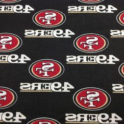 "NFL SAN FRANCISCO 49ers football team logo fabric by 18"" x 2"