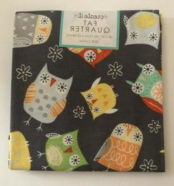 Owl Fabric Fat Quarter 18 x 21 inches 100% Cotton