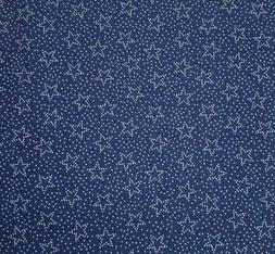Polka Dot Stars BTY Fabric Traditions Ivory on Tonal Navy Bl