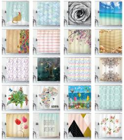 printed fabric shower curtain cloth bathroom decor