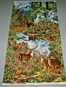 quilt craft fabric forest creek panel 2
