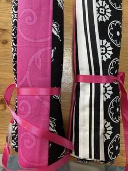 Quilting Fabric 8 Fat Quarters Black Pink
