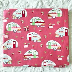 Riley Blake Vintage Adventure Campers Camping Cotton Fabric