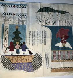 """RJR Expressions """"Glad Tidings"""" Christmas 19"""" Stocking Fabric"""