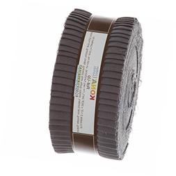 Roll Up Kona Solids Coal Color 40Pcs 2-1/2in Strips