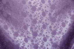 SATIN Lavender BROCADE FLORAL JACQUARD BACKDROP FABRIC WEDDI