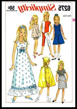 ~SIMPLICITY 6275~ DOLL Fabric Sewing Pattern Barbie Lil sist