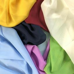 Solid Chiffon Fabric Polyester Dress Sheer 58'' Wide By the