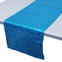 Sparkling Sequins Fabric Table Runner, 14-Inch x 108-Inch