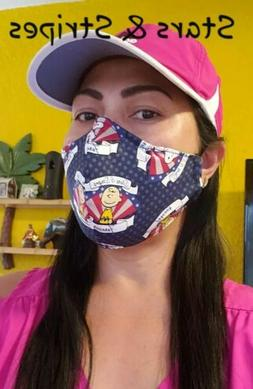 stars and stripe face mask new cotton