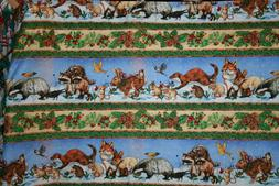 THE QUILTMAKERS GIFT ANIMAL STRIPE FROM BENARTEX - 100% COTT