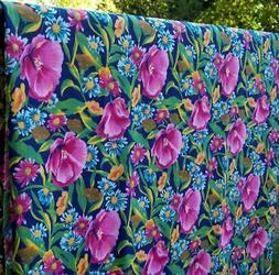 Tropical Floral Pigment Printed Cotton Sheeting Woven Fabric