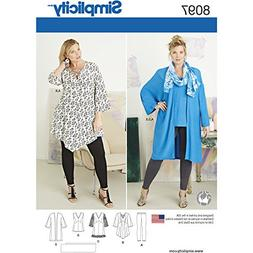 Simplicity Creative Patterns US8097GG Plus Size Tunic, Top,