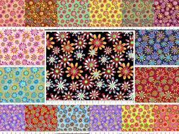 Variety of Flower Fabric Quilting Cotton By the Yard, Your C