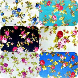 """Victorian Roses Floral Print Poly Cotton Fabric 60"""" BY THE Y"""