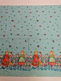 Vintage Holly Hobbie Cotton Fabric ~ 5 Yards ~ American Gree