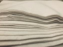 WHITE FELT Thick 3 MM Fabric Soft Sewing Crafts Art PIECES