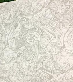 White on White Spilled Marbled Paint 100% Cotton Fabric by t