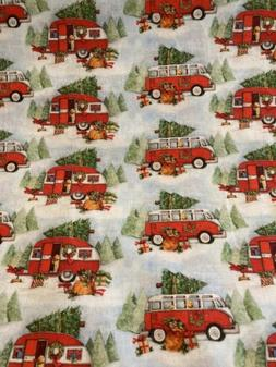 winter camping fabric by the half yard