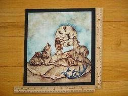Wolves Full Moon Wildlife Expressions Cotton Quilt Fabric Bl